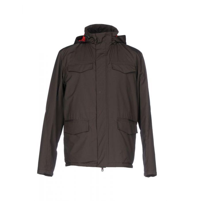 Image for Dark brown wool blend single-breasted jacket