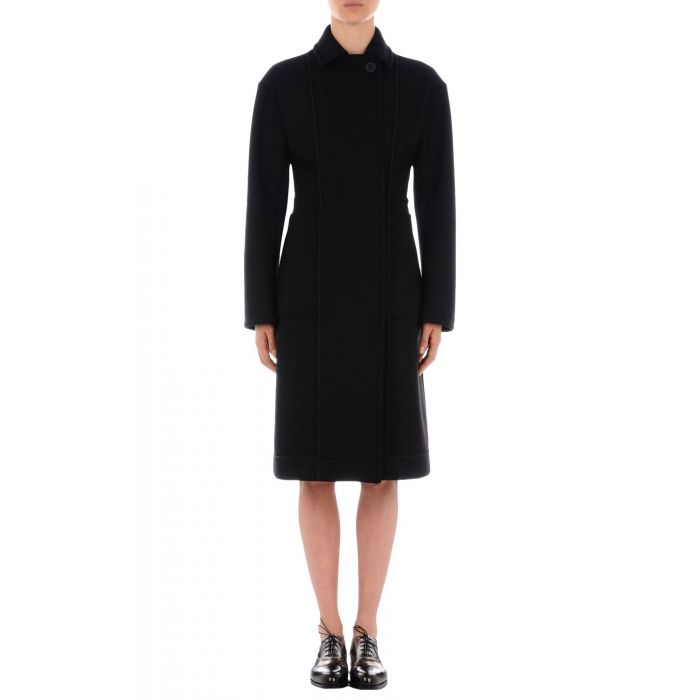 Image for Black wool blend double-breasted coat