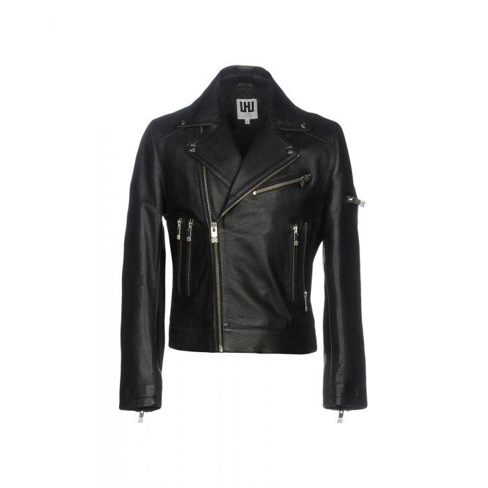 Image for Black bovine leather jacket