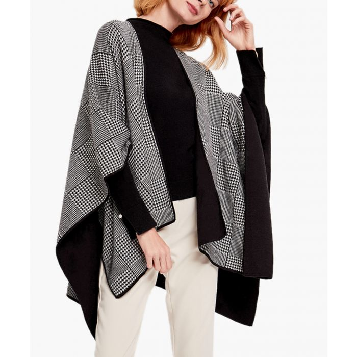 Image for Black and white cashmere blend cardigan