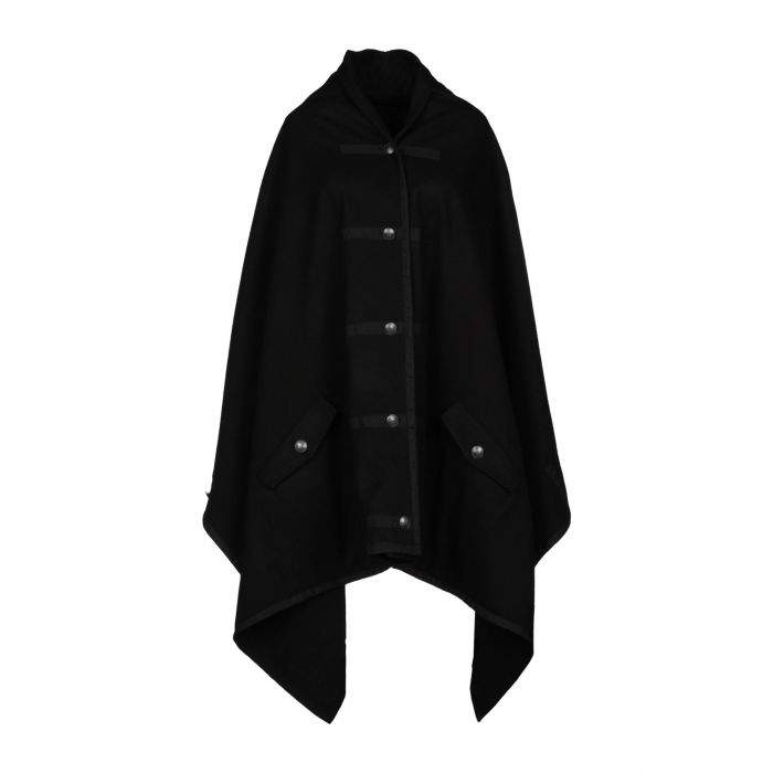 Image for Black wool cape