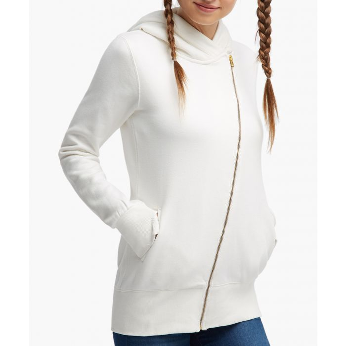 Image for White cotton blend jacket