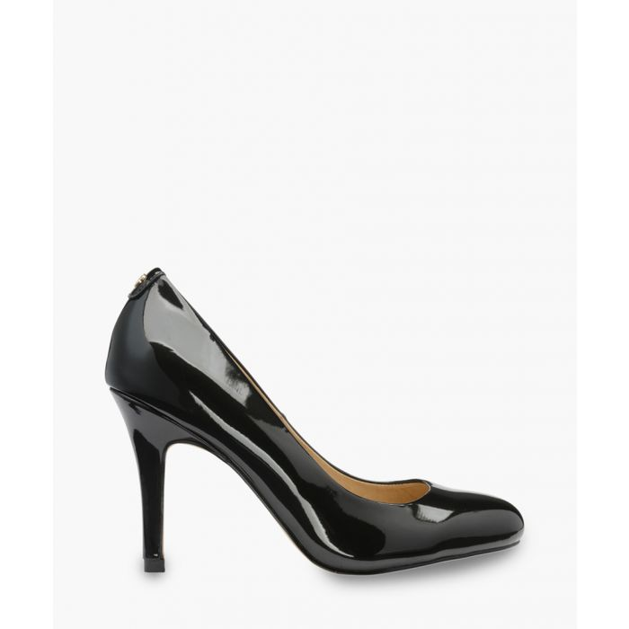 Image for Black leather patent heels