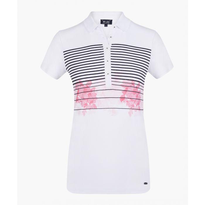 Image for White stretch cotton polo shirt