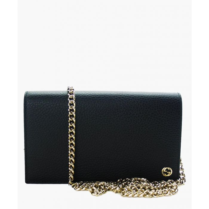 Image for Black leather crossbody
