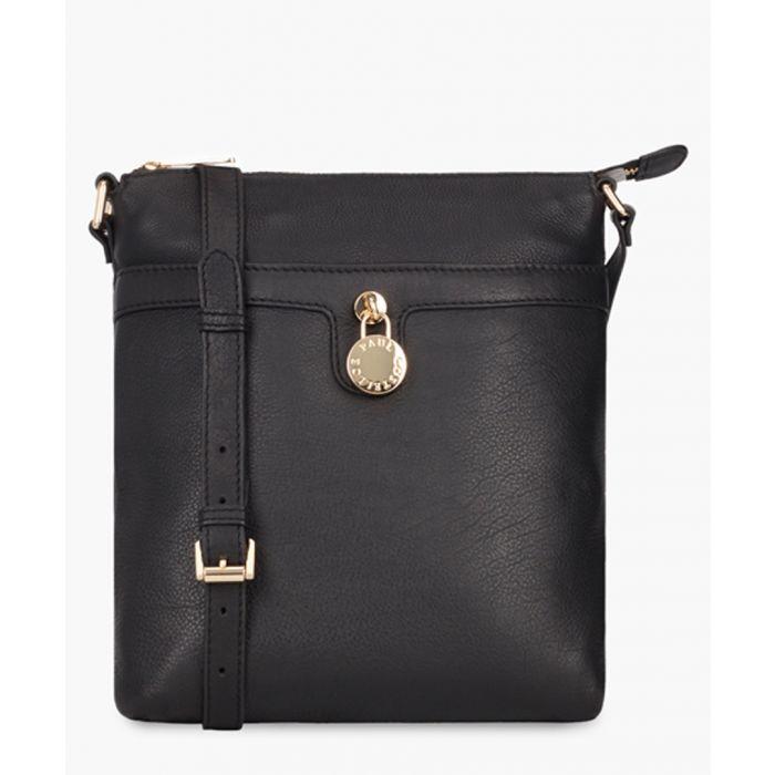 Image for Trinket Pendley black leather shopper
