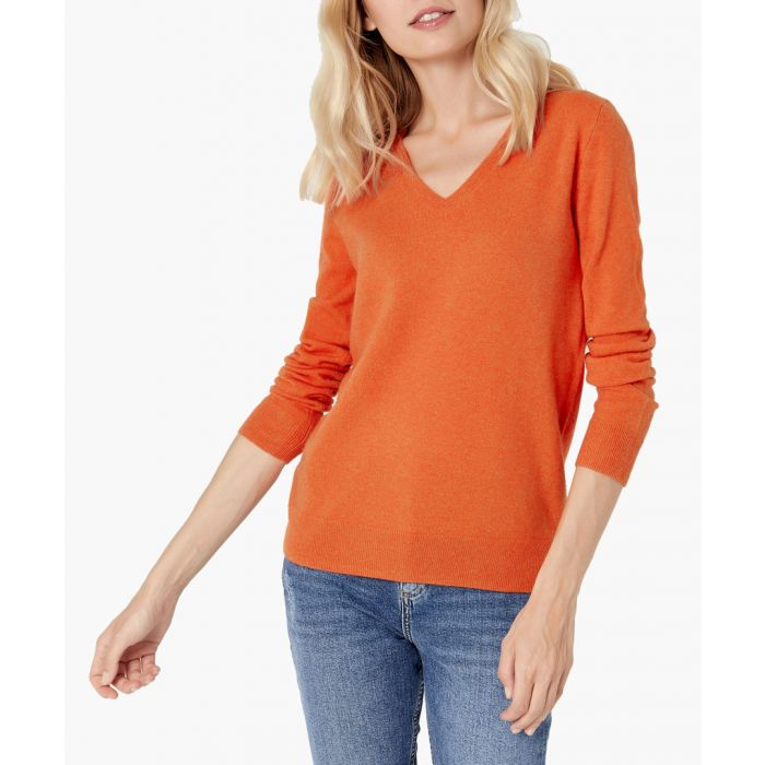 Image for Orange pure cashmere jumper