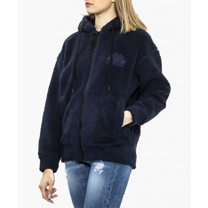 Image for Lara black hooded fleece