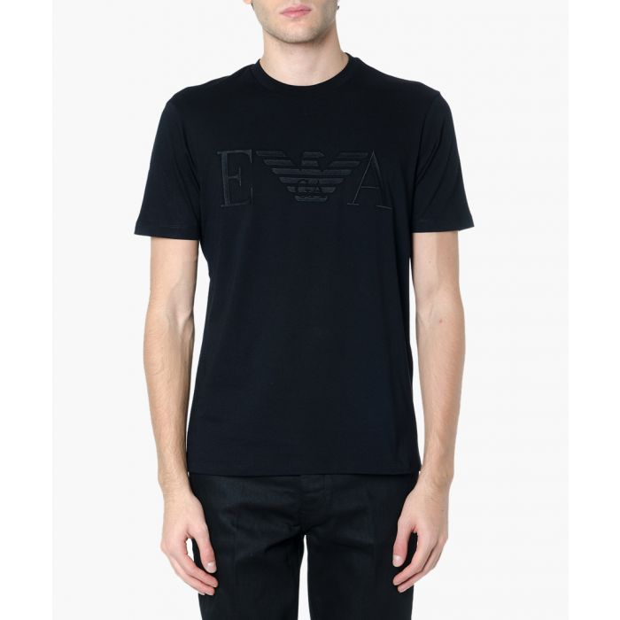Image for Black cotton logo T-shirt