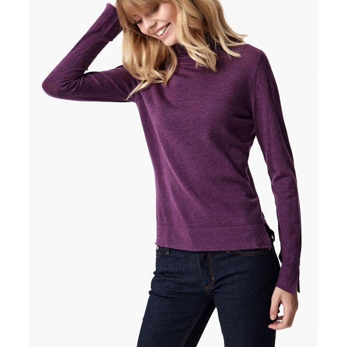 Image for Purple cashmere blend pullover