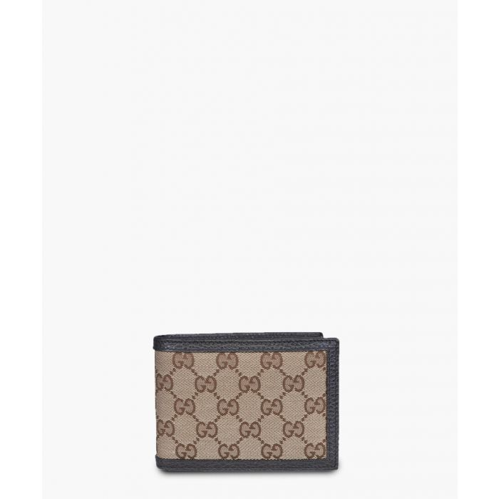 Image for Beige and brown monogram canvas wallet