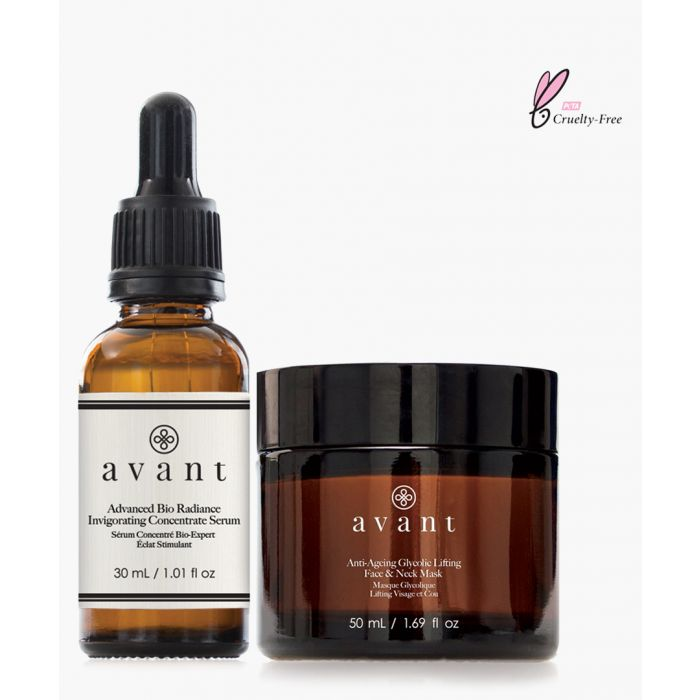 Image for 2pc anti-ageing glycolic lifting face & neck mask and advanced bio radiance invigorating concentrate serumset