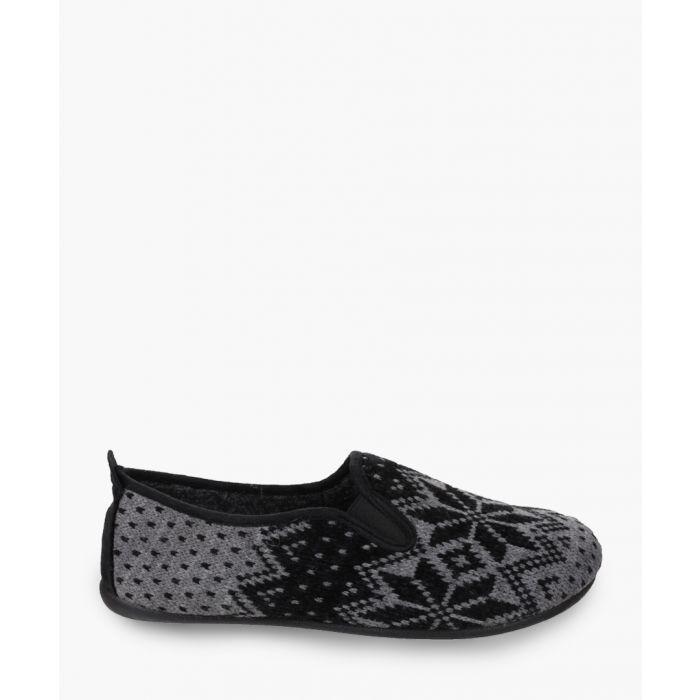 Image for Mens black slippers