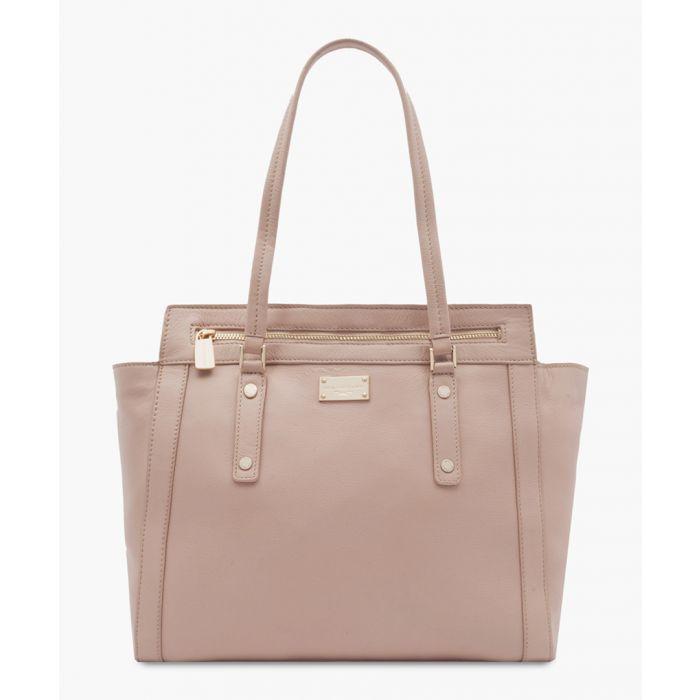 Image for Besig pink leather shopper