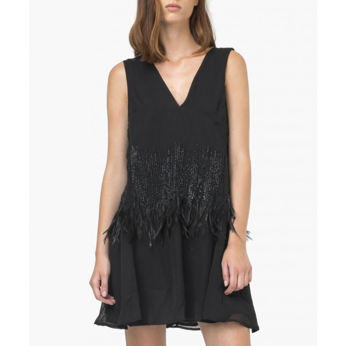 Image for Euphoria black distressed dress