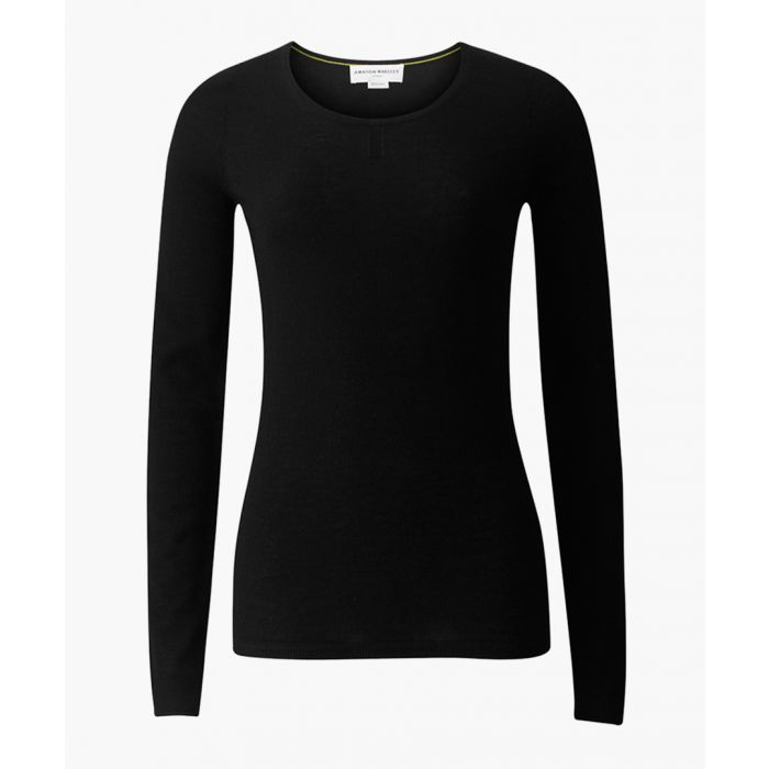 Image for The Monroe black pure cashmere jumper