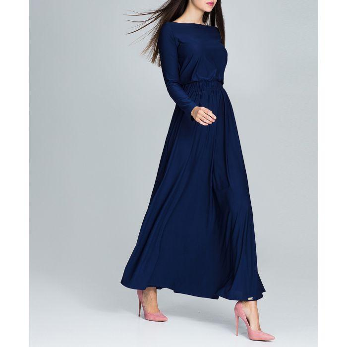 Image for Navy long sleeve maxi dress