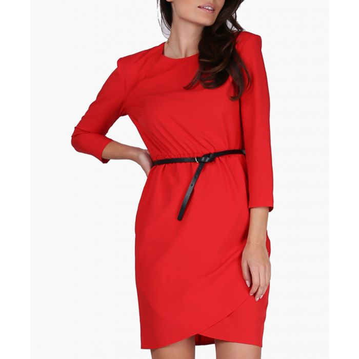 Image for Red woven dress