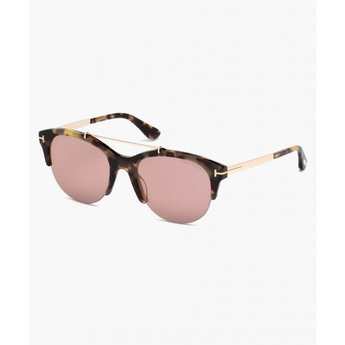 Image for Havana and purple club sunglasses
