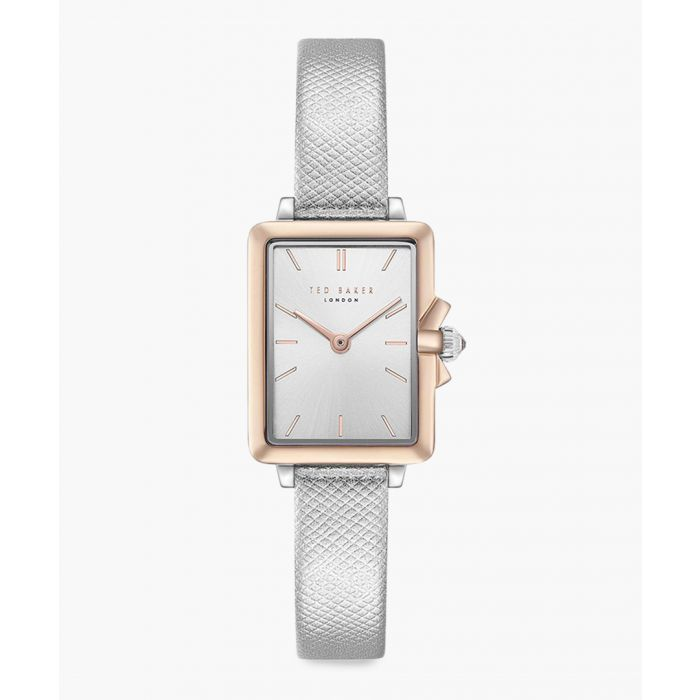 Image for Tess silver leather and stainless steel watch
