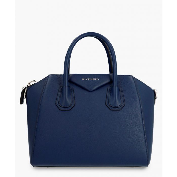 Image for Blue leather grab bag