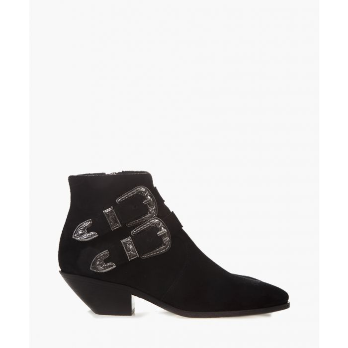 Image for West black suede ankle boots