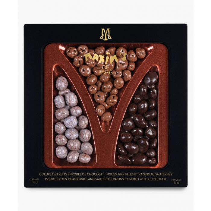 Image for Black chocolate covered fruits tin