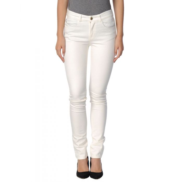 Image for Armani Jeans Ivory Cotton Pantaloni jeans