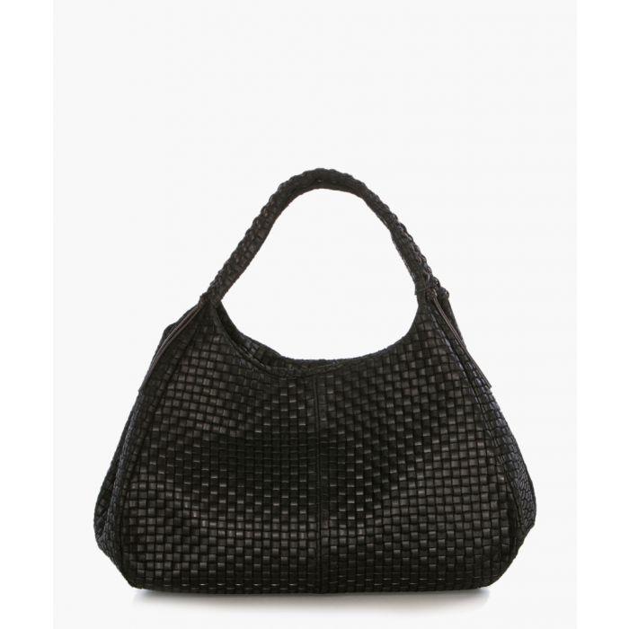Image for Gaiole black leather shopper