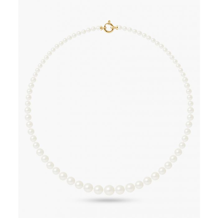 Image for Gold-plated and natural white freshwater pearl necklace