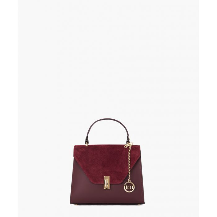 Image for Strada bordeaux leather grab bag
