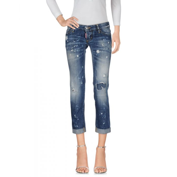 Image for Blue low-rise faded effect jeans
