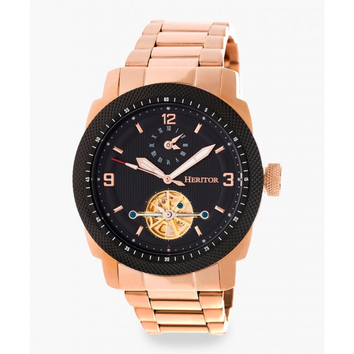 Image for Heritor Automatic Helmsley rose gold-tone watch
