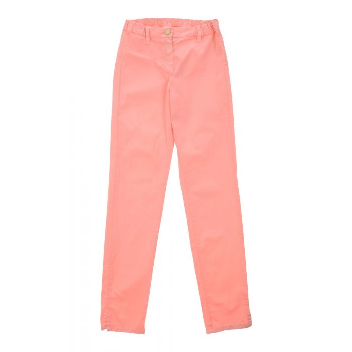 Image for Salmon pink cotton casual trousers