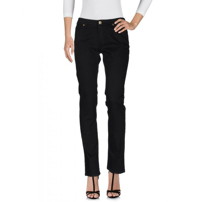Image for Black denim trousers