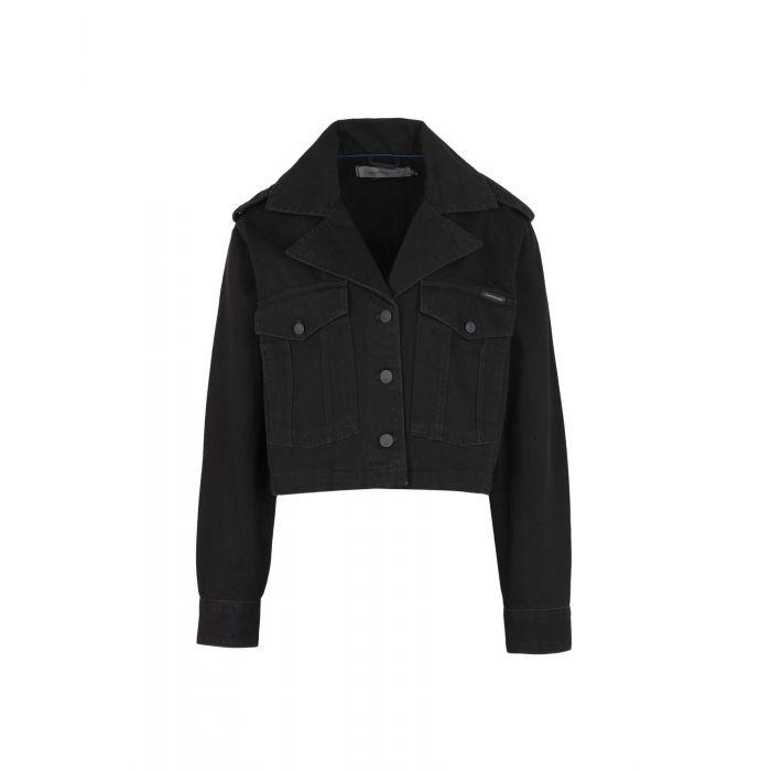 Image for Calvin Klein Jeans Black Cotton Capispalla jeans