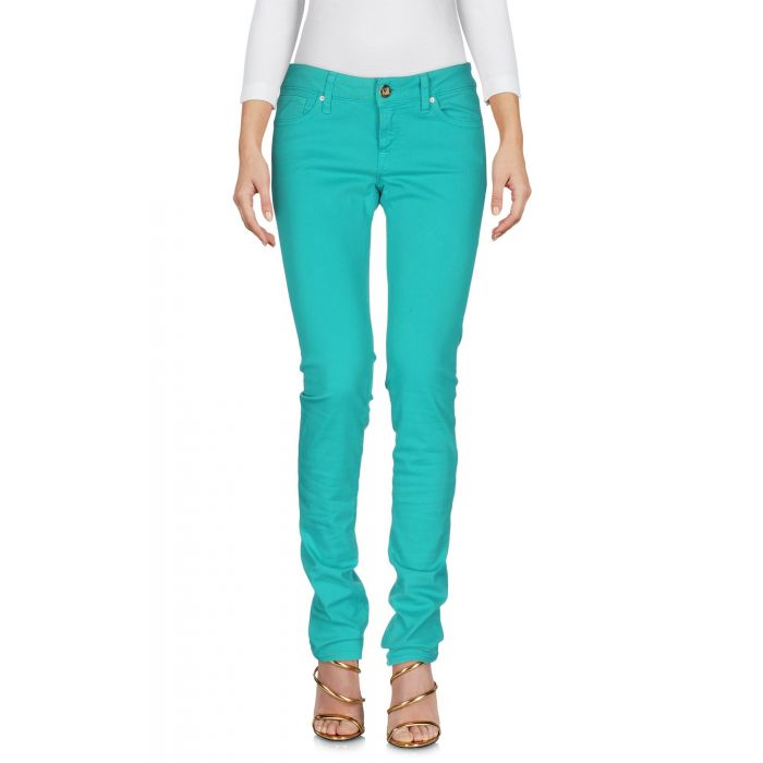 Image for Acid green cotton denim trousers