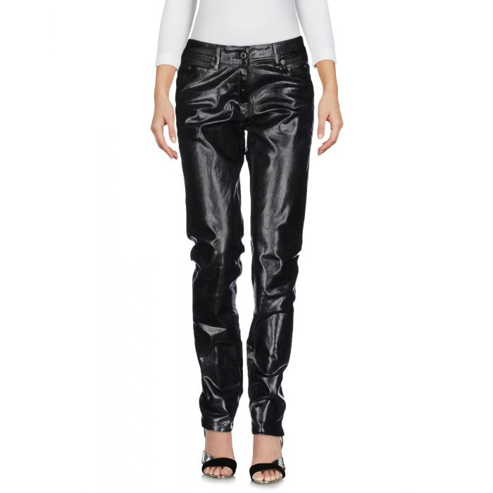 Image for Black cotton blend trousers