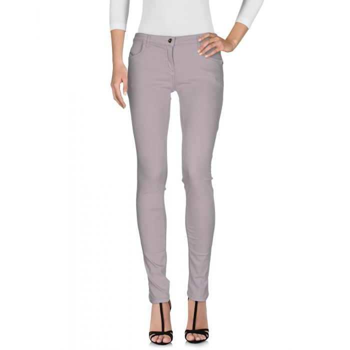 Image for Grey cotton denim trousers