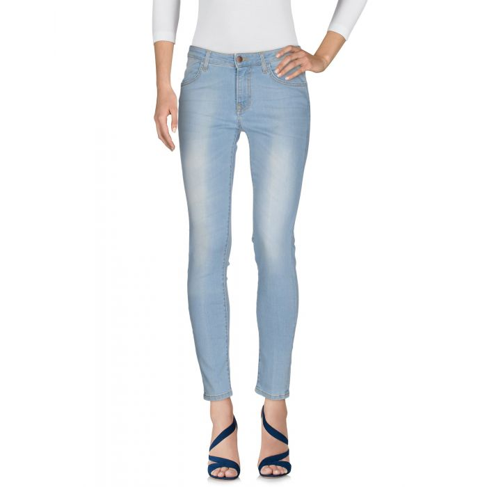 Image for Blue mid-rise stretch slim jeans