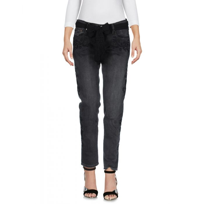 Image for Steel grey cotton denim trousers