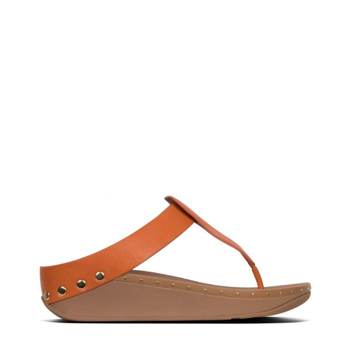 Image for Isabelle amber ash leather studded sandals