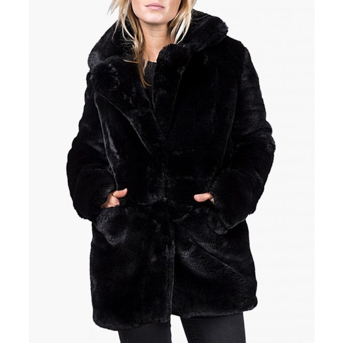 Image for Black faux fur coat
