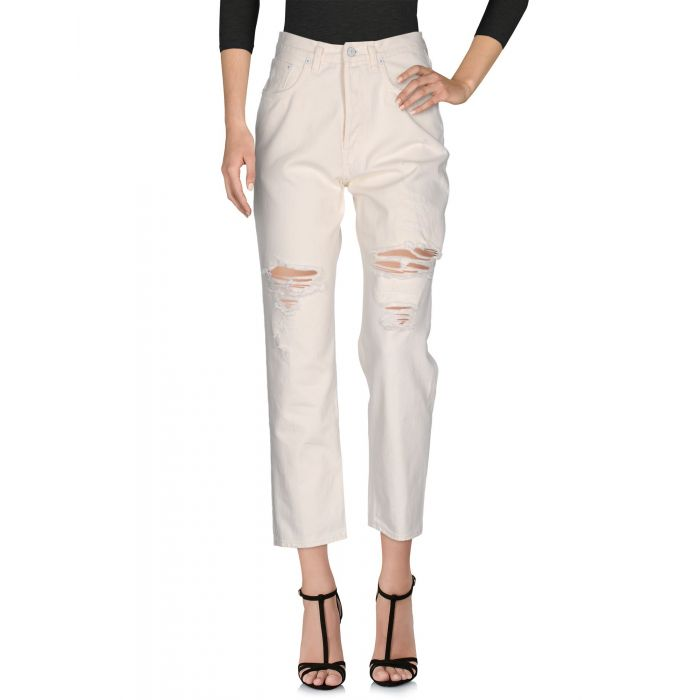 Image for Ivory denim cotton trousers