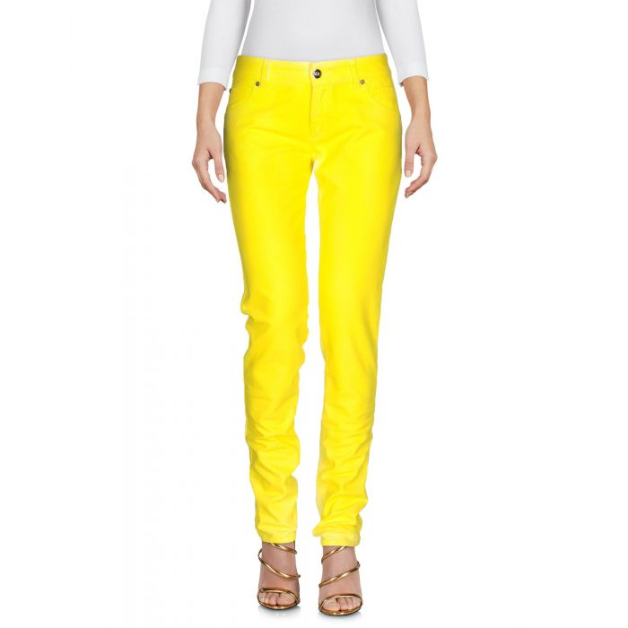 Image for Yellow cotton denim trousers