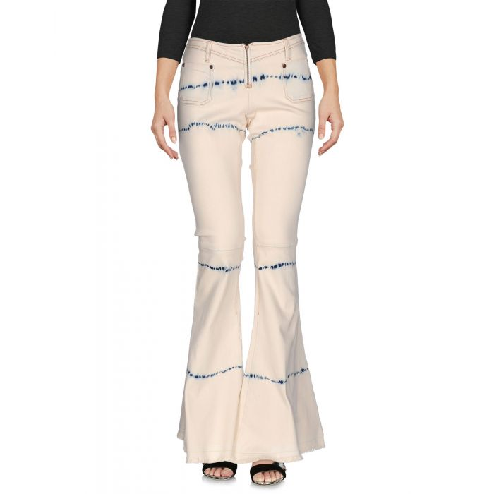 Image for Ivory cotton denim trousers