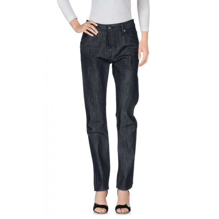 Image for Black cotton denim trousers