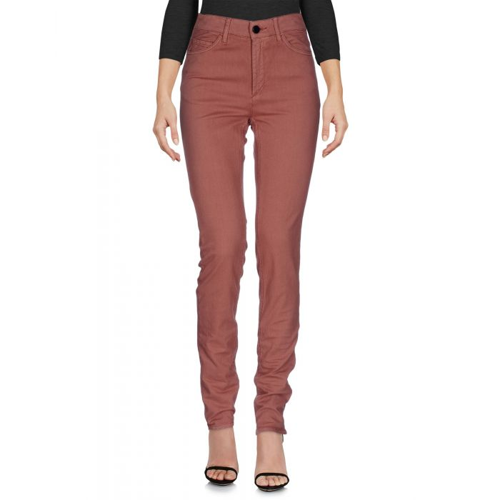 Image for Pink cotton denim trousers