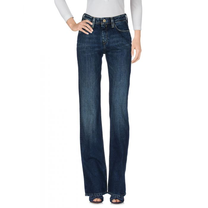 Image for Blue pure cotton mid-rise denim trousers