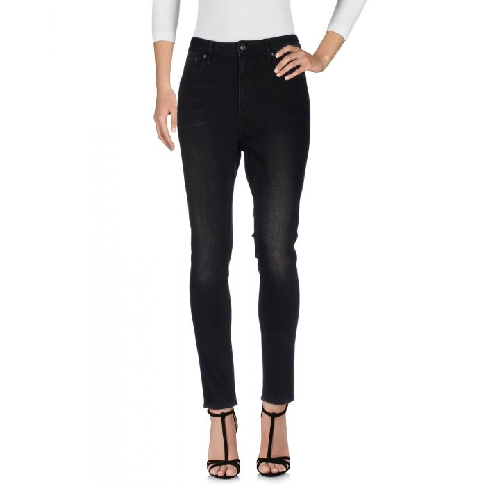 Image for Black cotton denim trousers